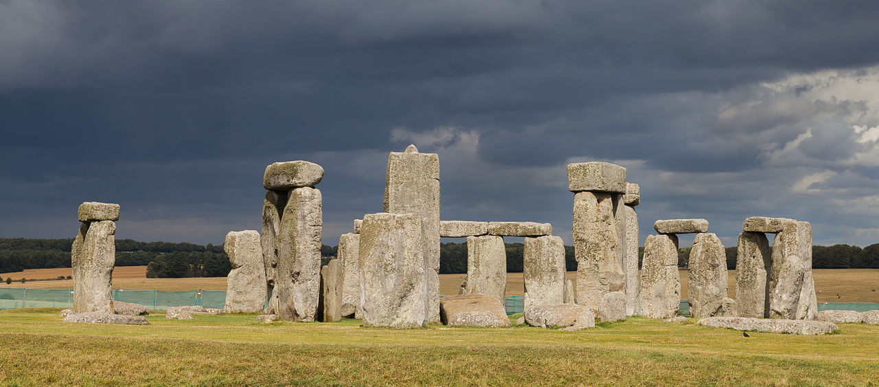 The Summer solstice was celebrated at Stonehenge where the rock formations line up with the sun's solstice rays  via wikipedia.org