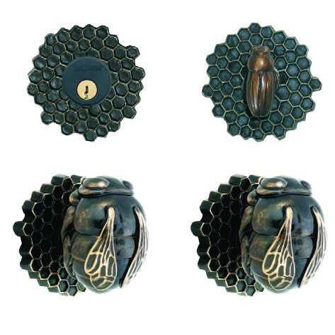 Bee entry door knob sets