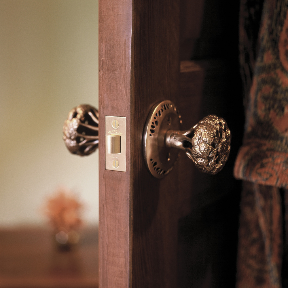 Custom interior door knob Hedgerow