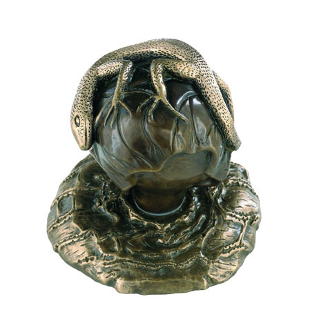 lizard-door-knob-bronze