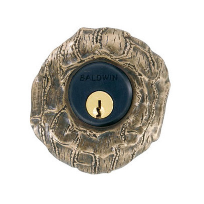 Unusual deadbolt trim lizard