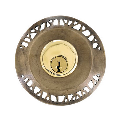 Designer styled deadbolt trim Hedgerow