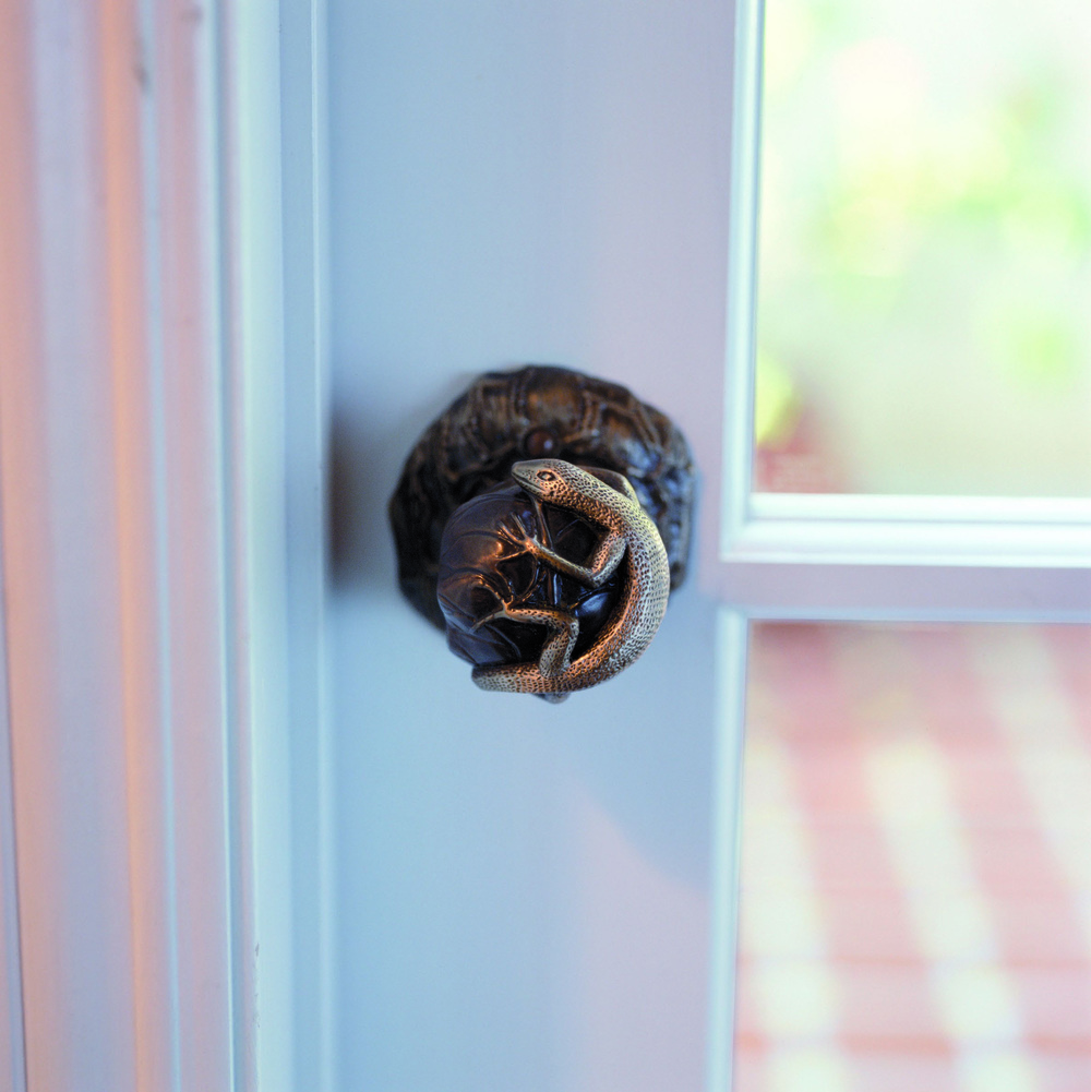 Lizard door knob netsuke collection