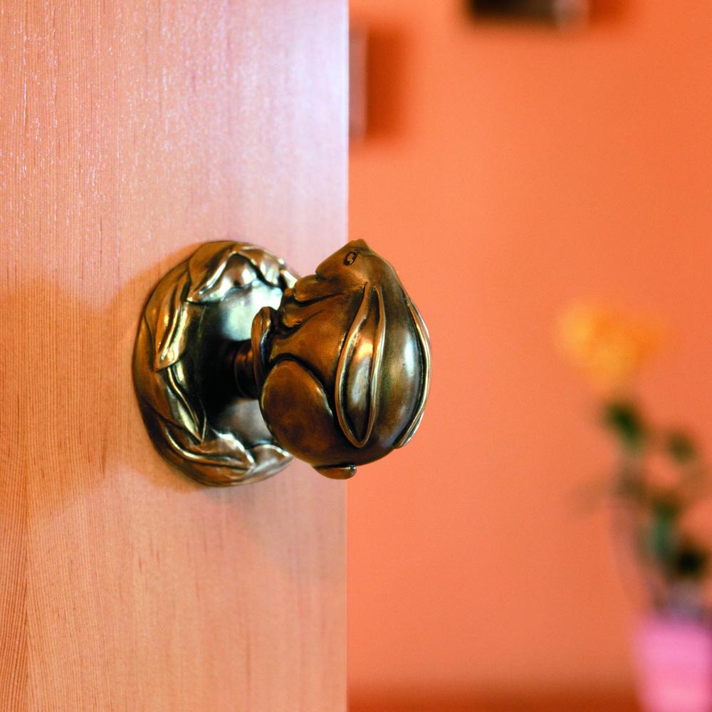 Rabbit door knob netsuke collection