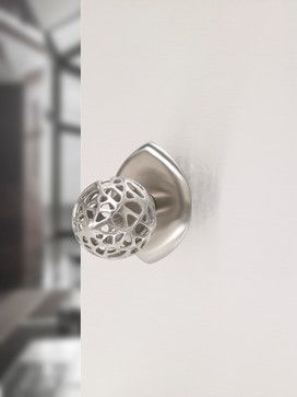 Stainless steel door knob by Martin Pierce Hardware  Photo Doug Hill