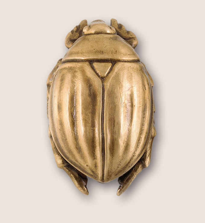 Scarab door or cabinet knob from Martin Pierce Hardware Los Angeles CA  Photo Doug Hill