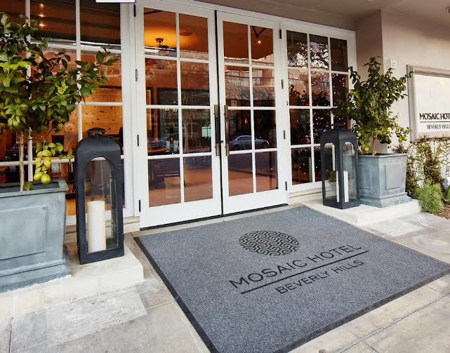 Mosaic Hotel Beverly Hills CA  Designer  Intra-spec , architect    Kollin Altomare     Morphic door handles from  Martin Pierce Hardware  Los Angeles CA