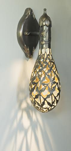Bronze floral wall sconce by Martin Pierce Hardware Los Angeles Ca  90016 Photo Doug Hill