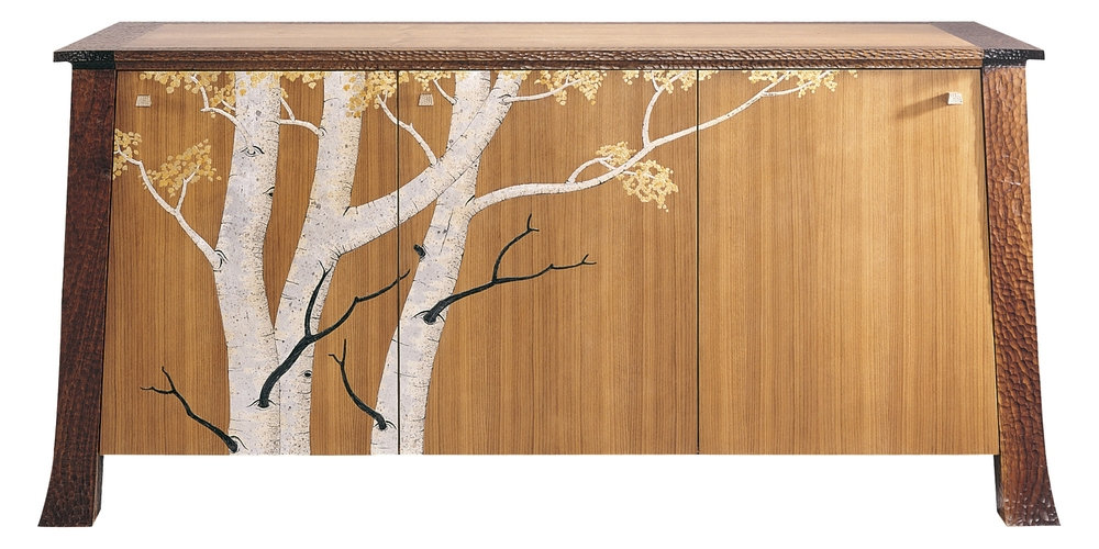 Aspen buffet featuring japanning details by Martin Pierce Hardware Los Angeles Ca  90016 Photo Doug Hill