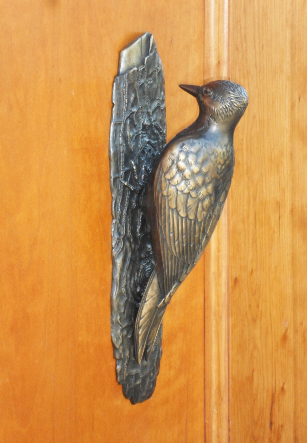 Woodpecker door knocker  by Martin Pierce Hardware Los Angeles CA  90016  Photo Doug Hill