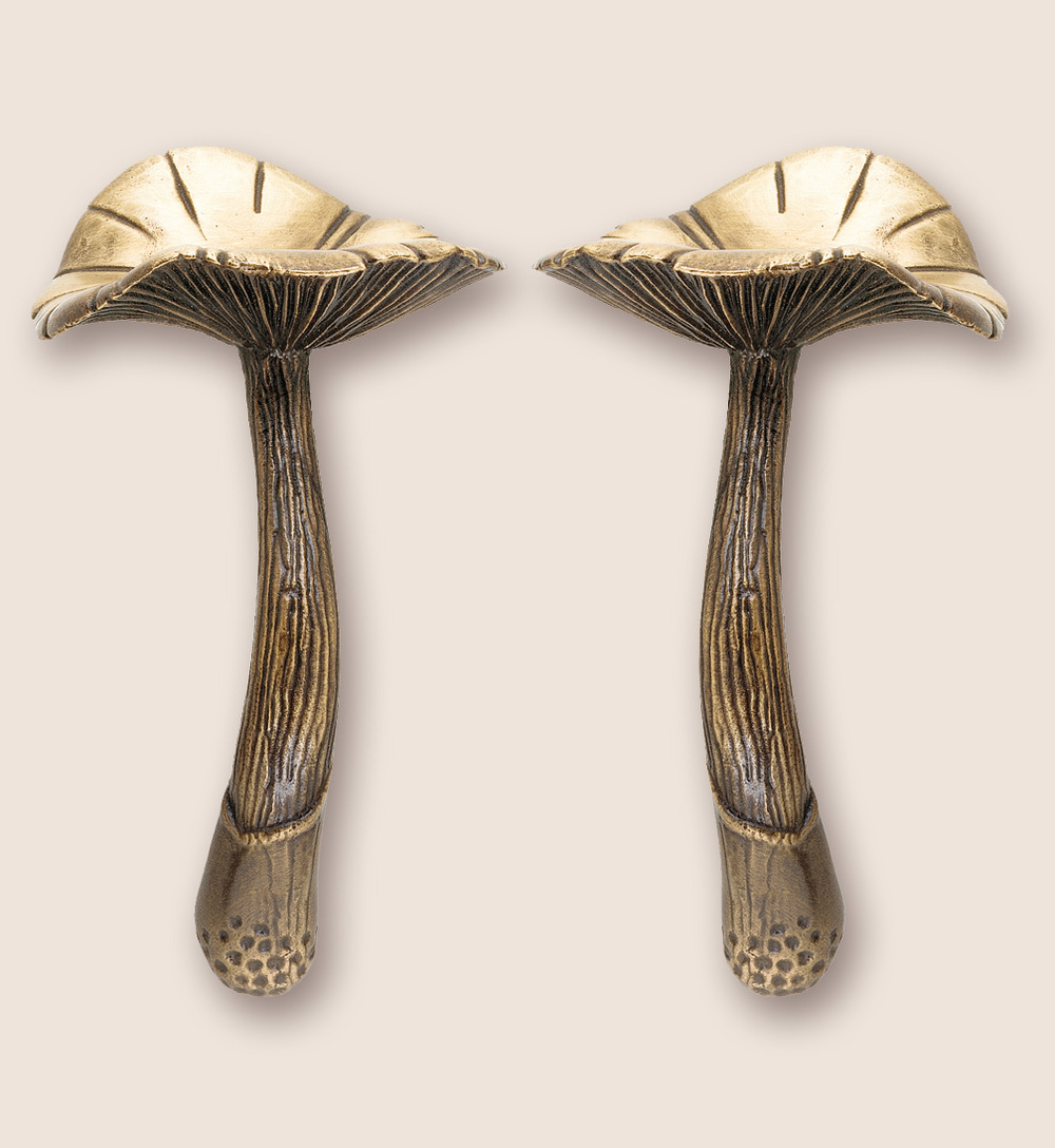 Bronze mushroom door pull from Martin Pierce Hardware Los Angeles Ca  90016 Photo Doug Hill