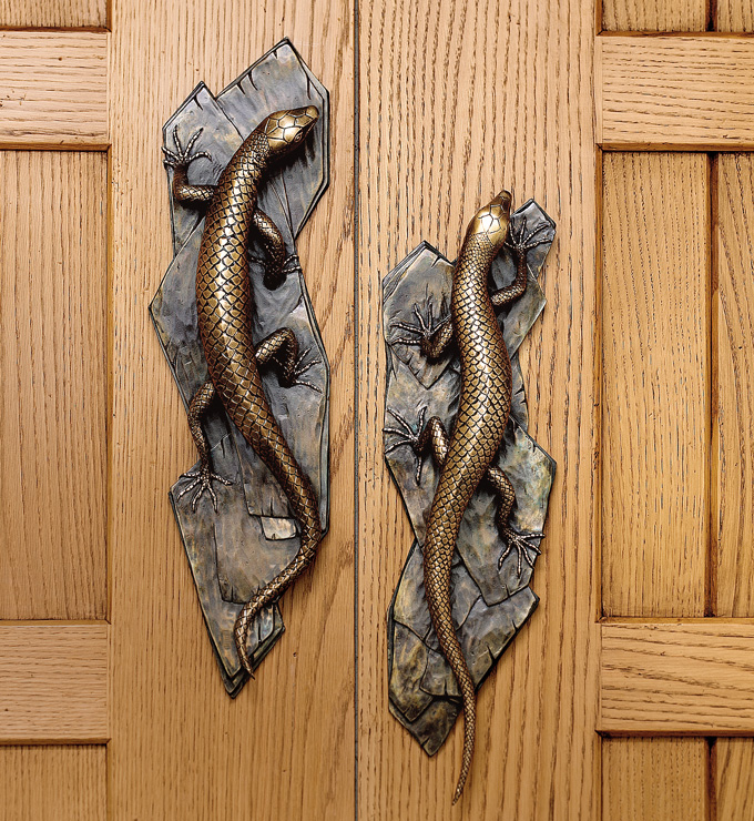 Lizard door handle from Martin Pierce Hardware Los Angeles CA