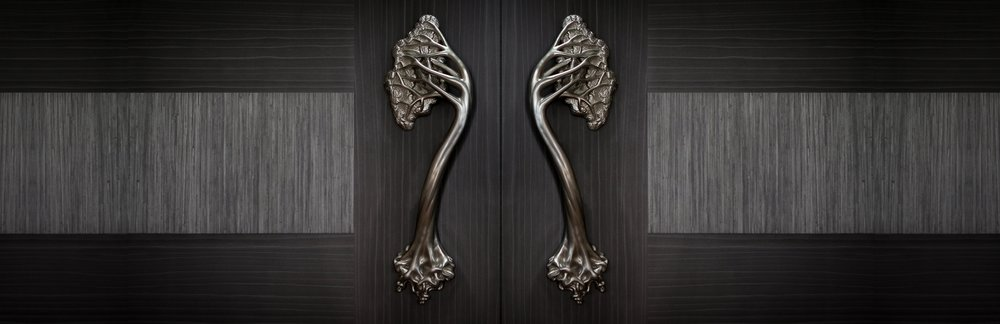 TREE DOOR HANDLES  Luxury door handle collection, inspired by Gaudi   Hedgerow Hardware