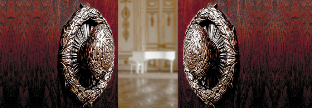 LUXURY ENTRY DOOR HANDLES  Nature Inspired handles cast in bronze   Willow Hardware