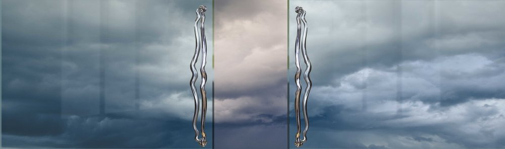 CONTEMPORARY DOOR HANDLES  Ladder door pulls for bars, restaurants   Ergo Hardware