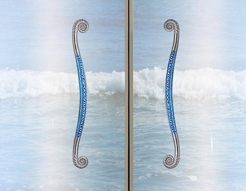 scroll custom door pull