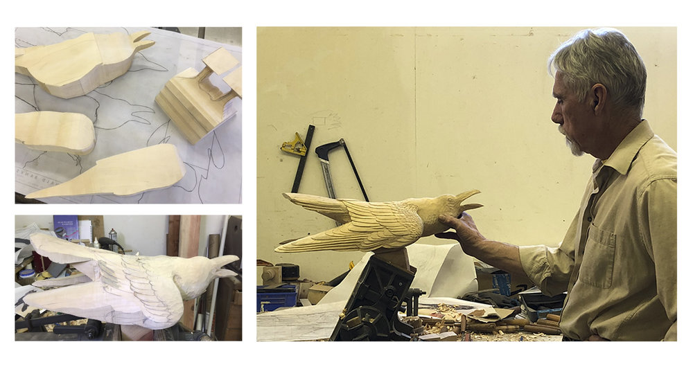 Constructing and de-constructing a Raven for lost wax casting