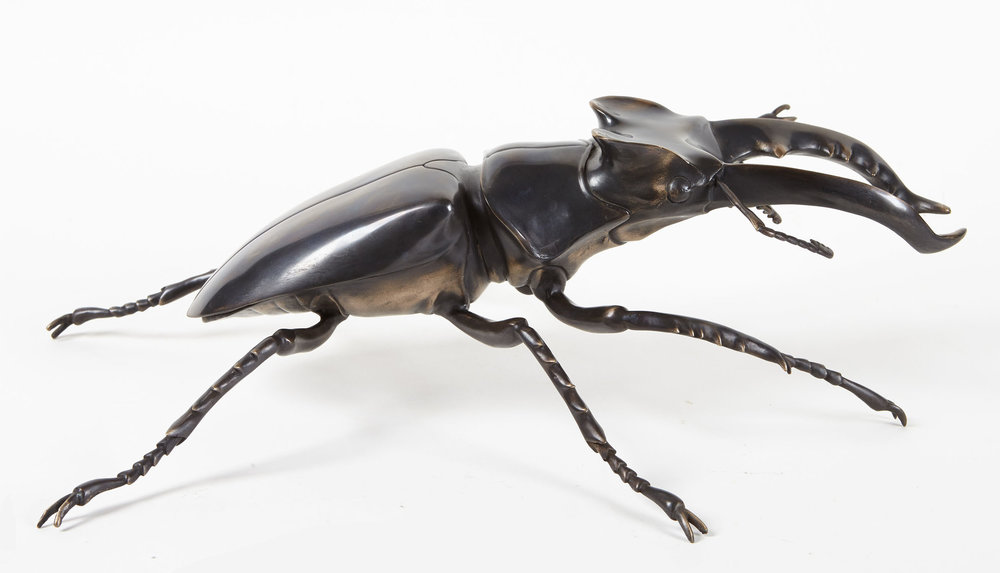 "Bronze Stag Beetle 20""W 15""D 6""H Limited Edition"