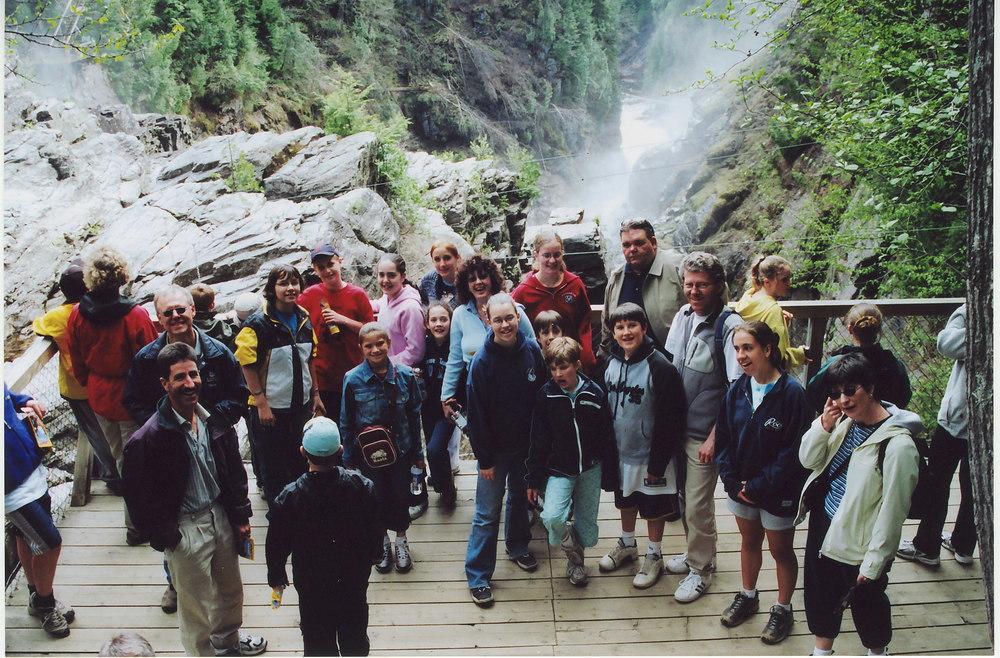 Canyon St. Anne, Quebec Tour, 2004.jpg