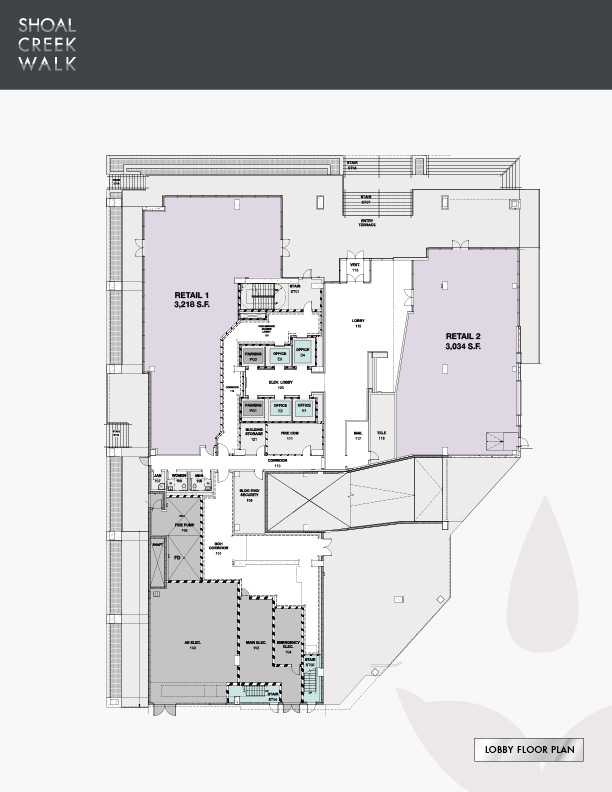 Shoal Creek Walk - Lobby Floor Plan