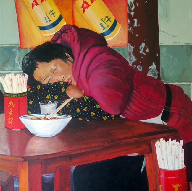 Working Woman 30 x 30' Acryllic