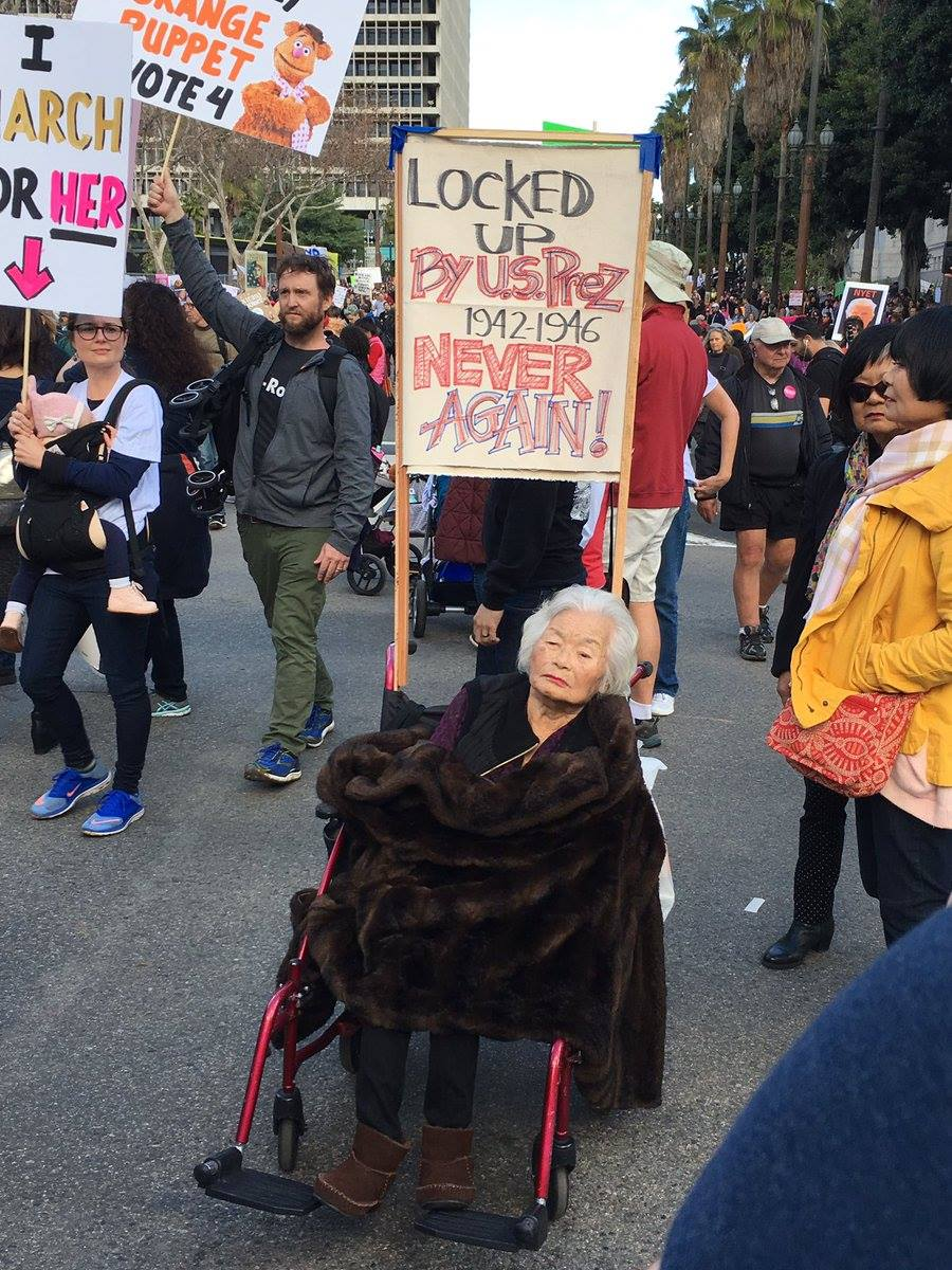 Incarceration survivor, at the Women's March to protest policies of President Trump