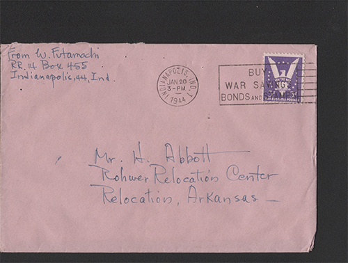 Letter addressed to Relocation, Arkansas