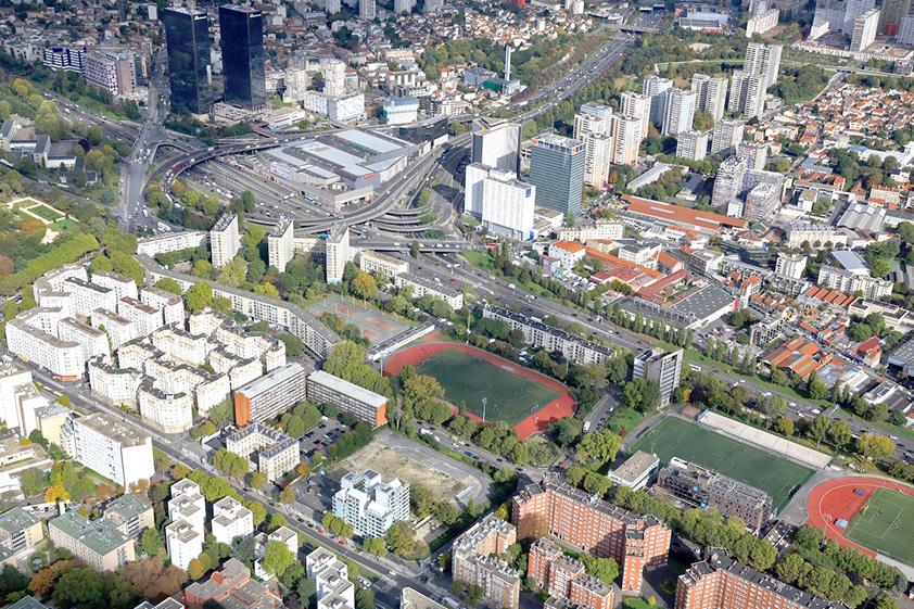 Le quartier Python Duvernois est situé sur la Porte de Bagnolet, encadré par le boulevard périphérique et le boulevard des Maréchaux (Image : Ville de Paris)