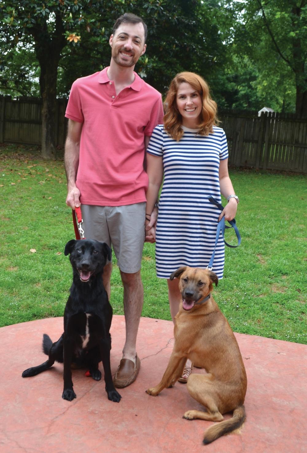 Dr. Nick & Kayla Arcuri with Shadow & Rudy