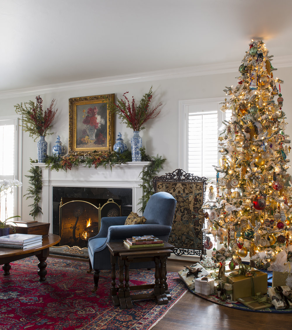 The Art Of Living: Christmas At Designersu0027 Homes Across America