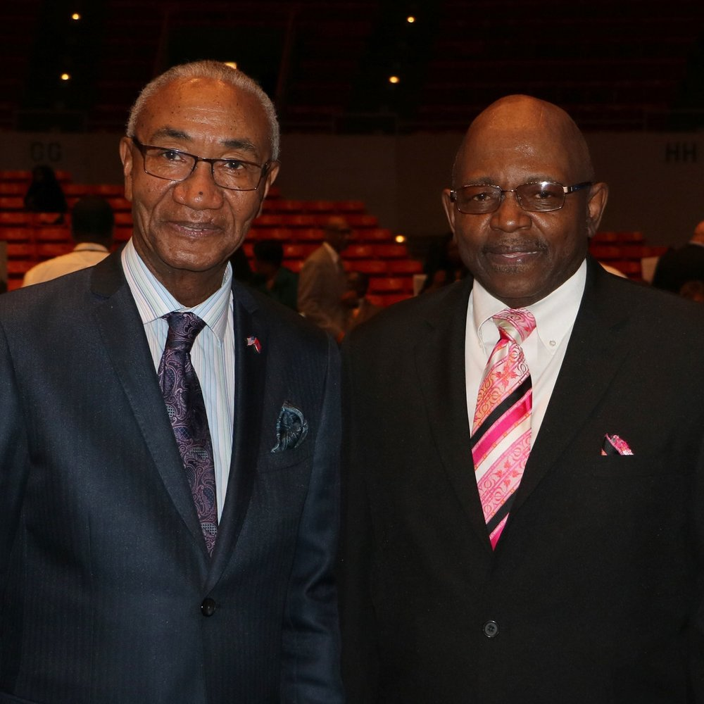 Rep. Johnny Shaw & Co. Comm. Claudell Brown (crop)