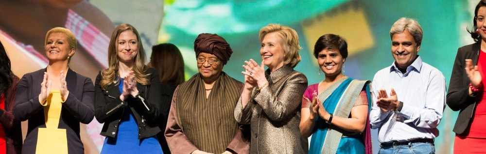 Vikalp co-founders Usha Choudhary and Yogesh Vaishnav (pictured far right) were invited to present as keynote speakers at the launch of the No Ceilings Initiative, hosted by the Clinton Foundation and the Bill & Melinda Gates Foundation.
