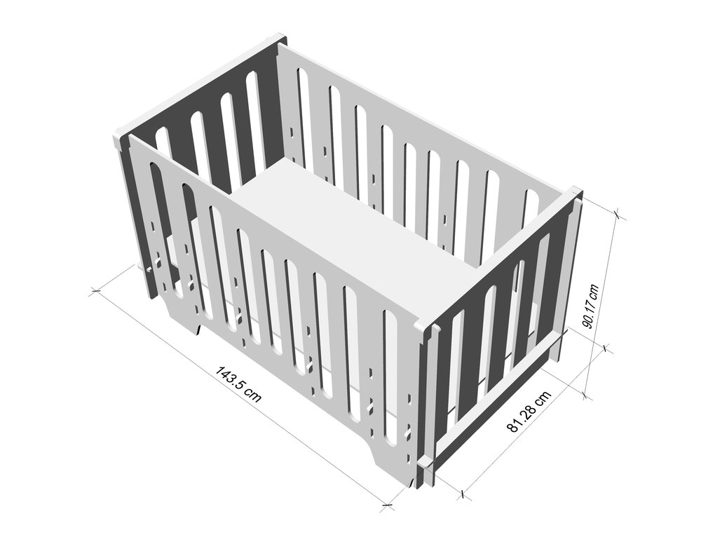 The dimensions of the standard crib for a newborn 66