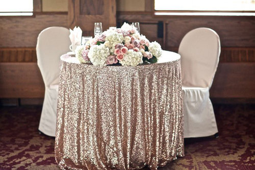 glitz sequin tablecloths for your wedding and events custom sizes