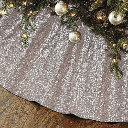 sequin christmas tree skirt fast ship - Christmas Tree Skirt