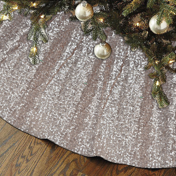 New sequin christmas tree skirt fast ship