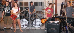 Life In A Tree is a Grafton alternative rock band made up of, from left, guitarist and vocalist Tyler Miller, vocalist and bass player Molly Lutz, drummer Jimmy Cooper, guitarist and vocalist DJ Underwood, and keyboardist and vocalist Brenden Fugate. Photos by Maggie Quick