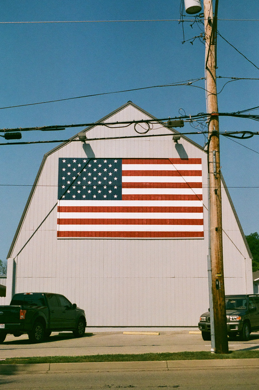 Seattle Film Works Photowalk - Bellbrook, Ohio - American Flag on Barn