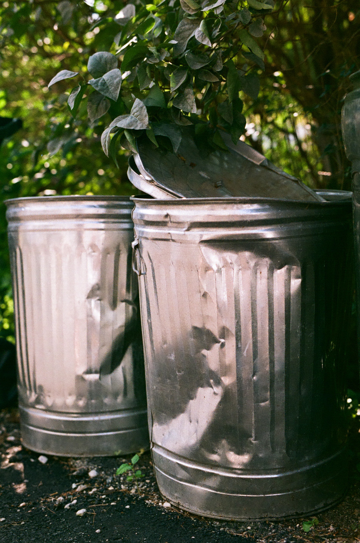 Seattle Film Works Photowalk - Bellbrook, Ohio - Beat up Trash Cans