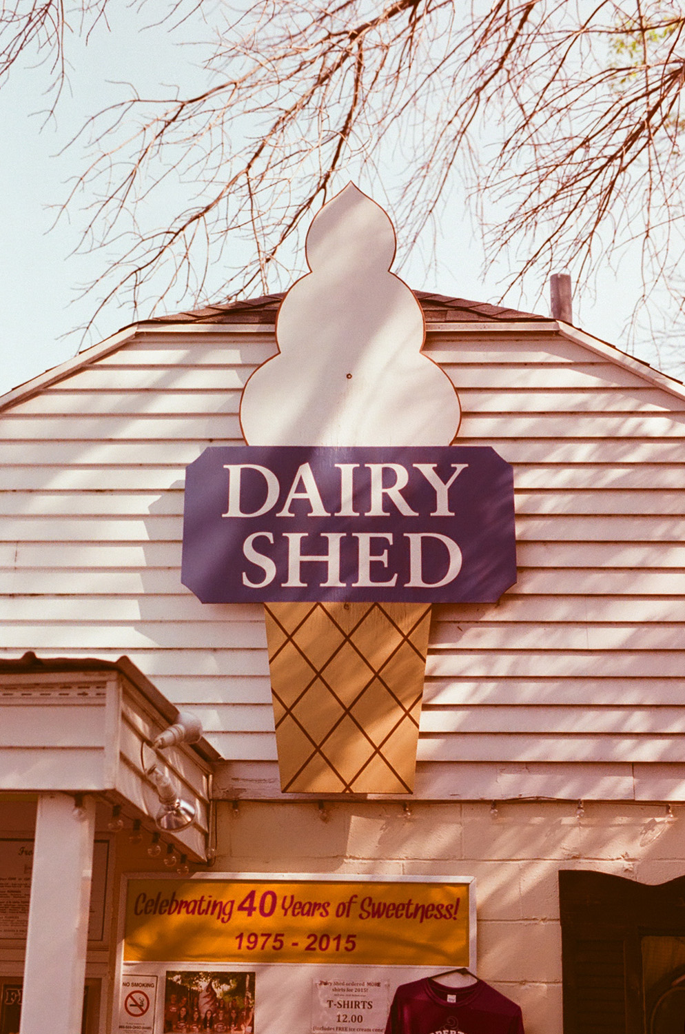 Seattle Film Works Photowalk - Bellbrook, Ohio - The Dairy Shed Sign