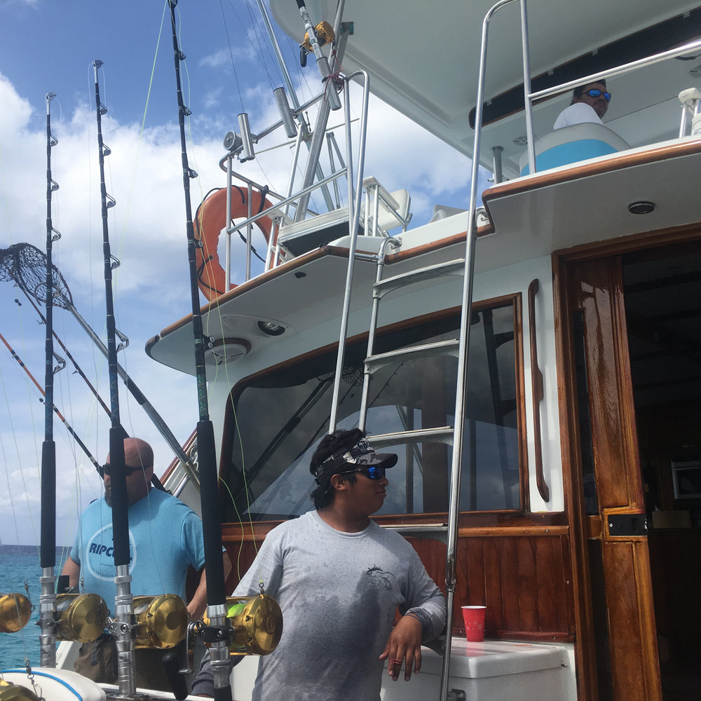 50 foot fishing yacht in Cozumel, Quintana Roo, Mexico