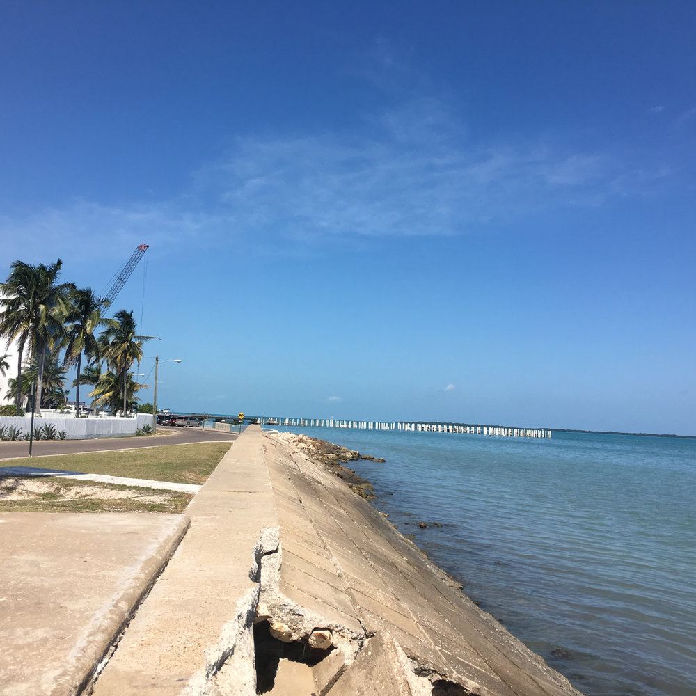 Sitting along the coast of Belize City, Belize