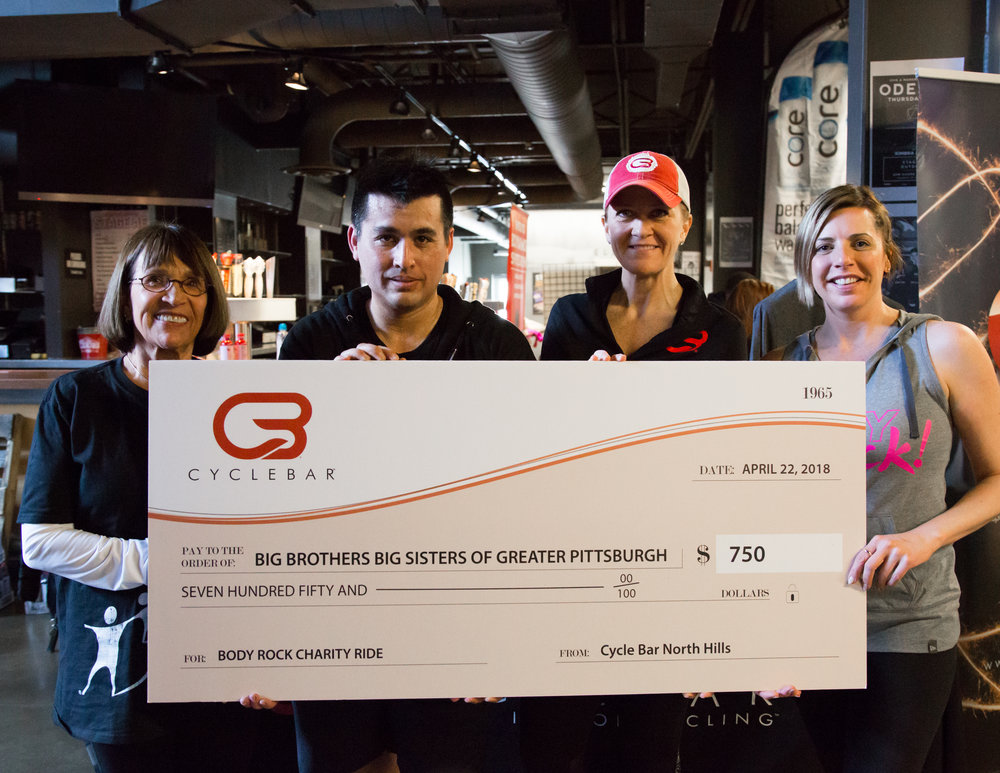 CycleBar North Hills' donation of $750