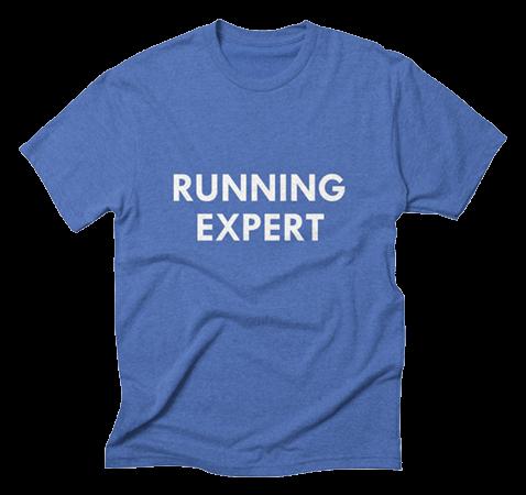"""""""RUNNING EXPERT"""" triblend tee, $25"""