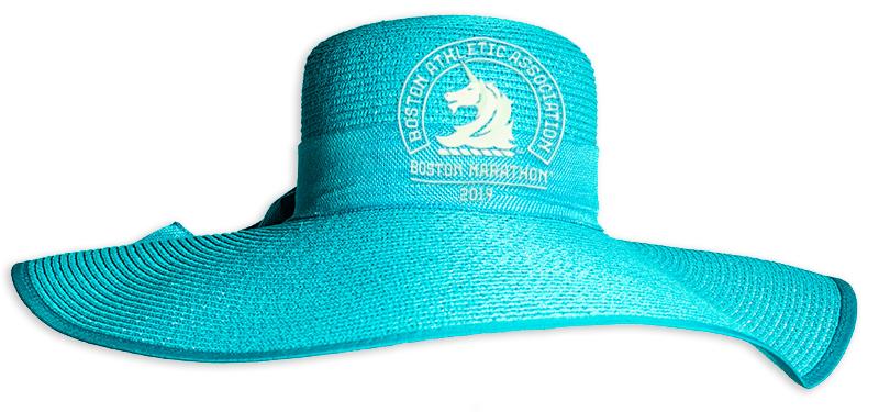 2019 Boston Marathon Fancy Hat, front