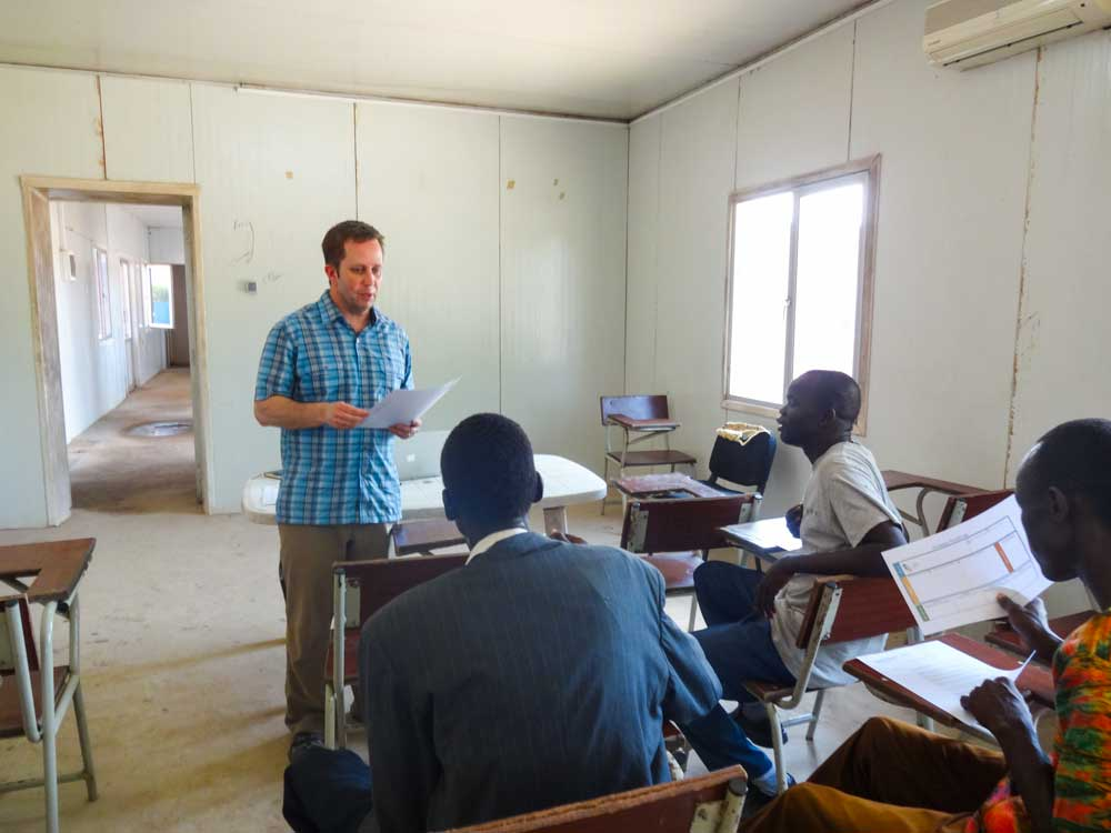 Scott Bowman mentors a Team of entrepreneurs from John Garang University of Science & Technology in South Sudan.