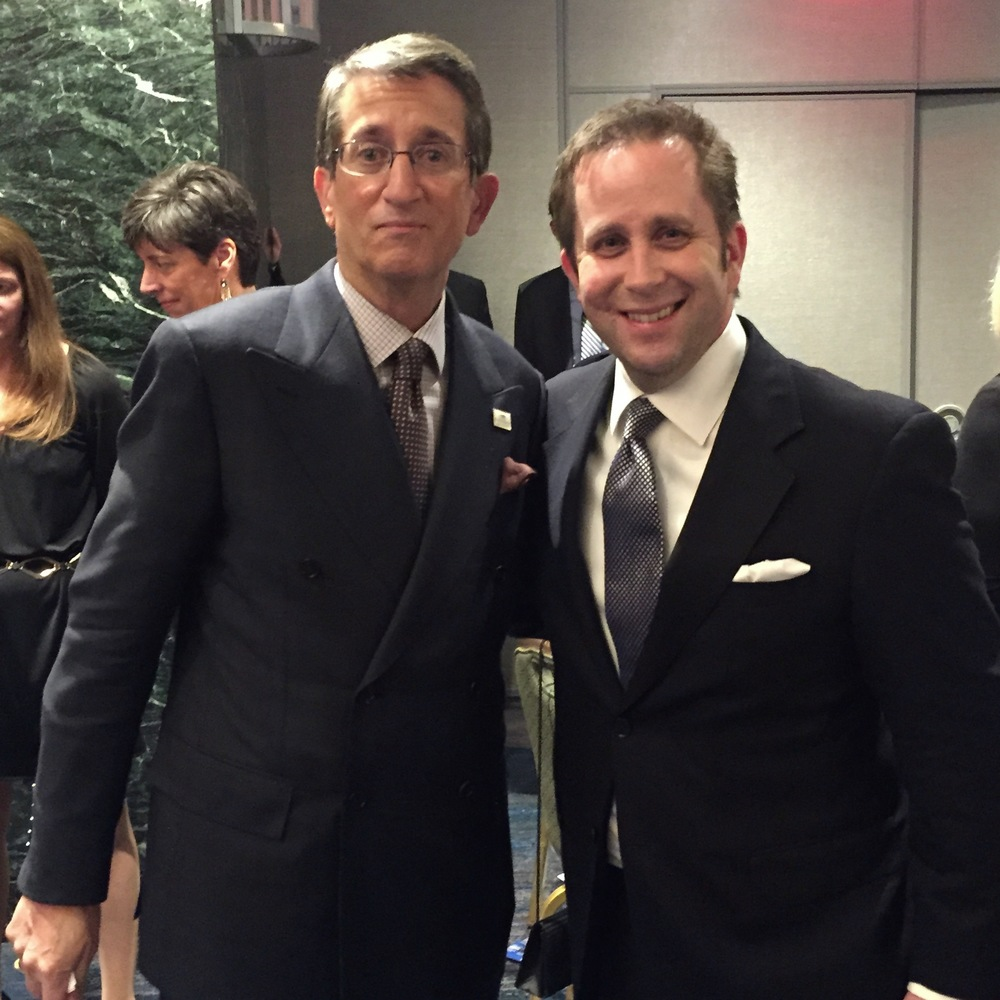 Donato Tramuto (left), pictured with Scott Bowman after Donato received the RFK Ripple of Hope Award.