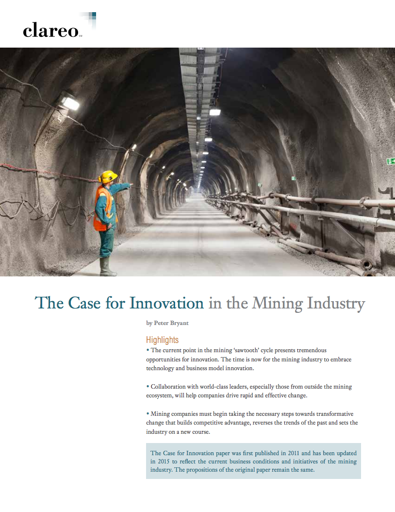 The Case for Innovation in Mining