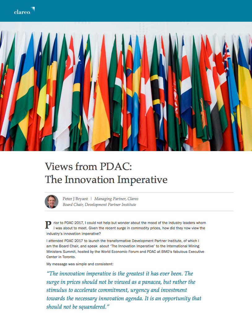 Views from PDAC: The Innovation Imperative