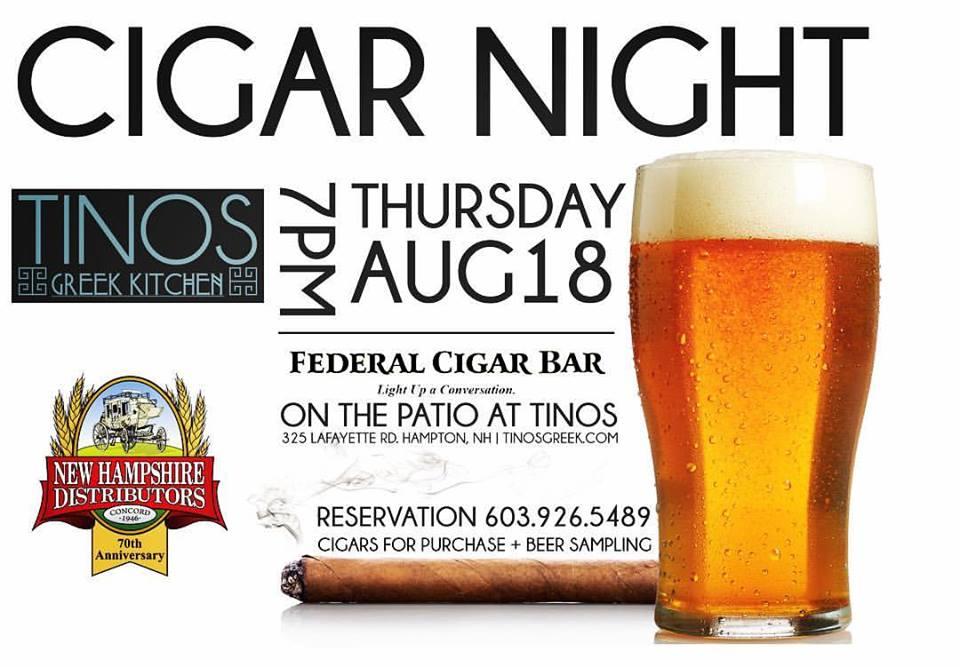CIGAR NIGHT AT TINOS — Tinios Pro Hospitality Group
